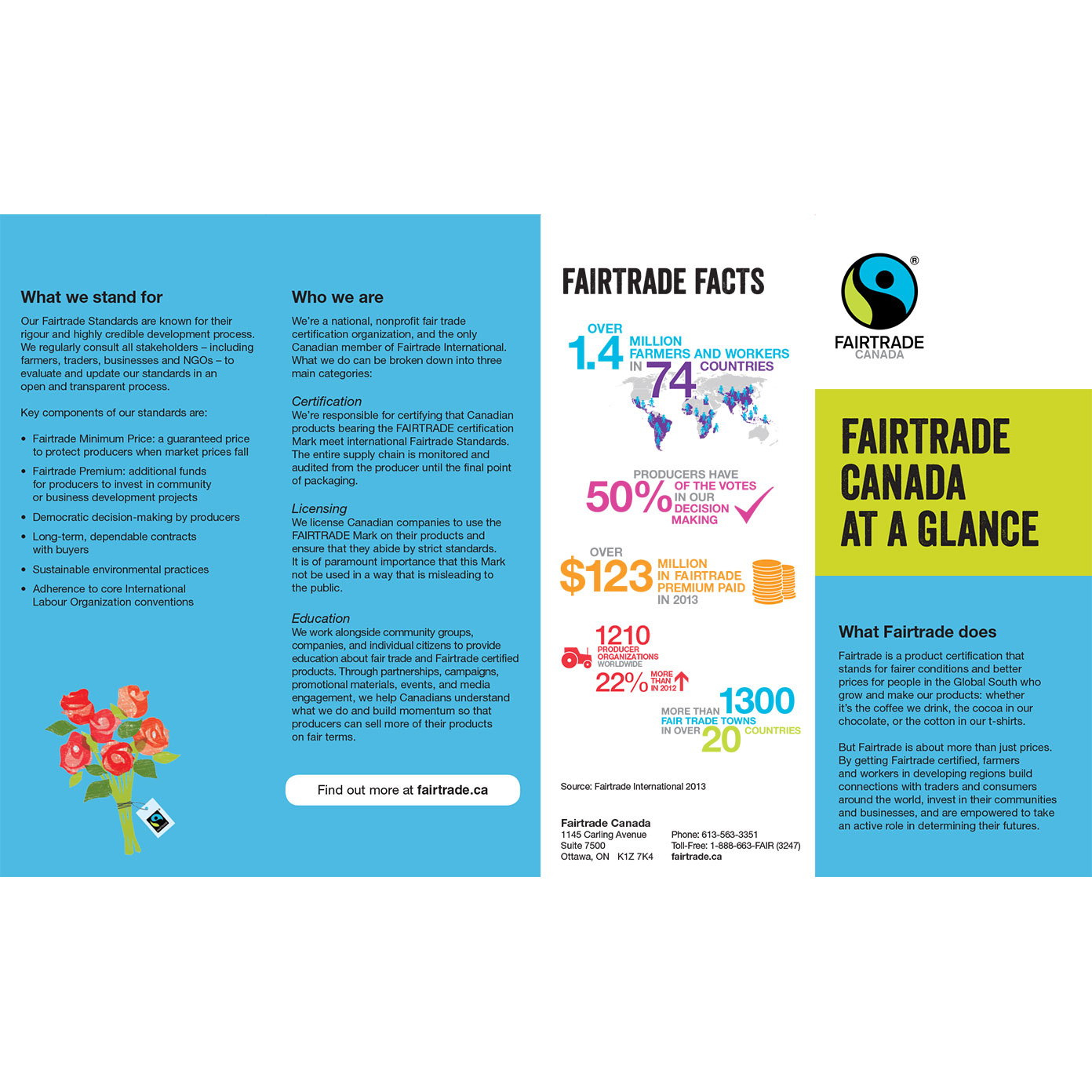fairtrade canada pamphlet pack of 50 fairtrade canada
